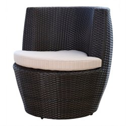 Abbyson Living Aden Outdoor Wicker Bistro Chair in Espresso