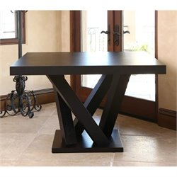 Abbyson Living Essex Wood Square Dining Table in Espresso