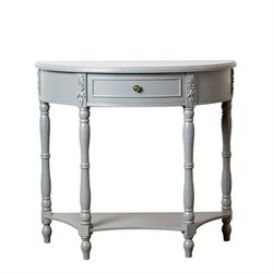 Abbyson Living San Pedro Console Sofa Table in Antiqued Steel Blue