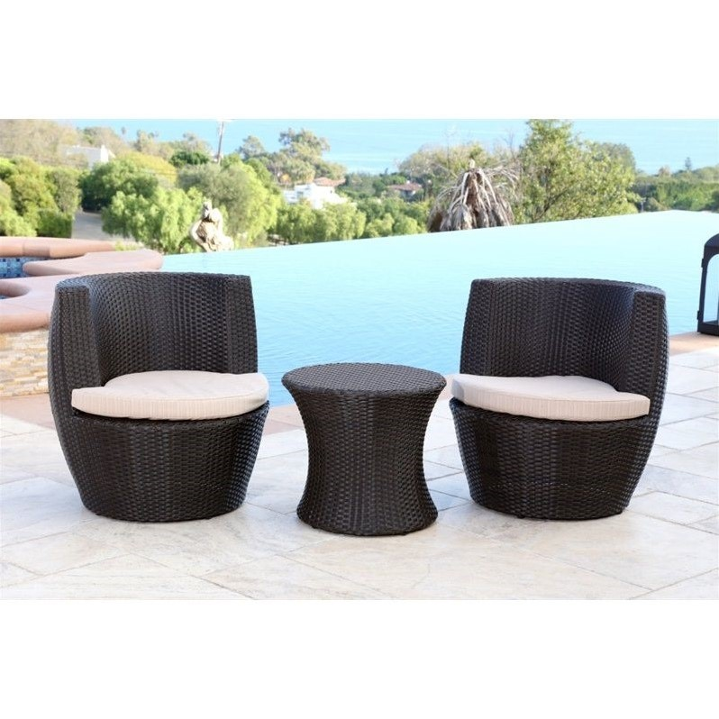 sets abbyson living carlsbad outdoor wicker 3 piece chair set in brown