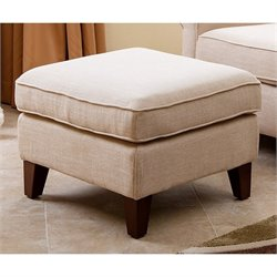 Abbyson Living Marcella Fabric Ottoman in Wheat