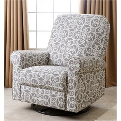 Abbyson Living Sydney Fabric Swivel Glider Recliner Chair