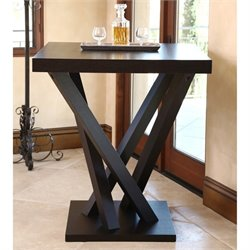 Abbyson Living Politan Wood Square Bar Table in Espresso