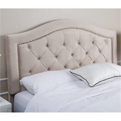 Abbyson Living Ternton Tufted Velvet Headboard in Espresso