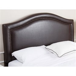 Abbyson Living Ternton Leather Upholstered Full Queen Headboard