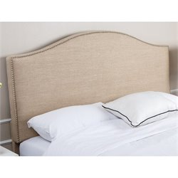 Abbyson Living Ranta Nailhead Linen Full Queen Headboard