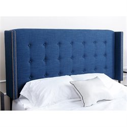 Abbyson Living Tafton Tufted Linen Full Queen Headboard