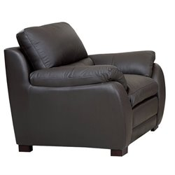 Abbyson Living Livington Leather Arm Chair in Espresso