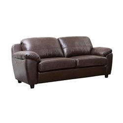 Abbyson Living Bella Leather Sofa in Brown