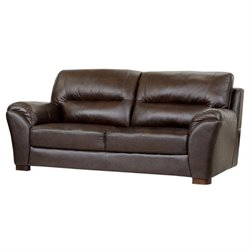 Abbyson Living Campton Leather Sofa in Espresso