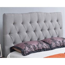Abbyson Living Hampton Linen Headboard in Gray