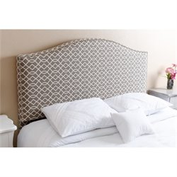Abbyson Living Kenton Queen Full Nail Head Trim Headboard
