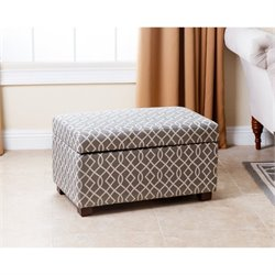 Abbyson Living Sahara Storage Ottoman in Gray