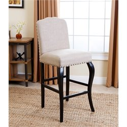 Abbyson Living Betsey Upholstered Bar Stool in Natural