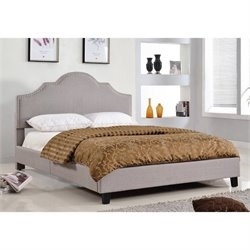 Abbyson Living Portia Queen Upholstered Bed in Gray