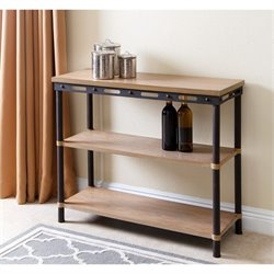 Abbyson Living Fallon 3 Shelf Console Table in Natural