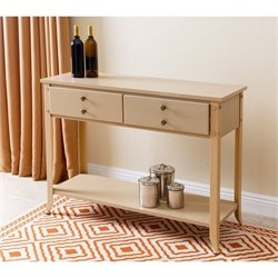Abbyson Living Demarco 4 Drawer Console Table in Beige