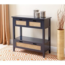 Abbyson Living Dumas Antique Console Table in Charcoal Blue
