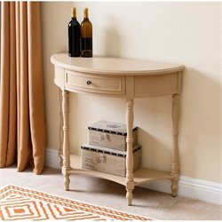 Abbyson Living Amar Antique Console Table in Beige