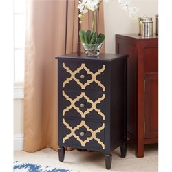 Abbyson Living Autumn 3 Drawer End Table