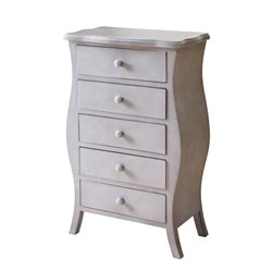 Abbyson Living Bailey 5 Drawer Chest in Gray