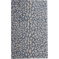 Abbyson Living Samara New Zealand Wool Rug in Light Blue