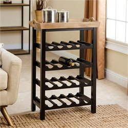 Abbyson Living 4 Tier Wine Rack in Espresso Black