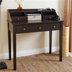 Abbyson Living Secretary Desk in Espresso Black