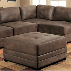 Abbyson Living Grayson Ottoman in Antique Brown