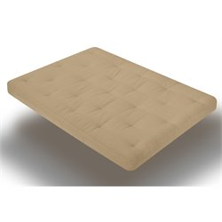 8 Inch Futon Mattress with 2.5 Inch Finger Foam in Khaki