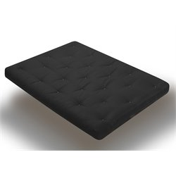 8 Inch Futon Mattress with 2.5 Inch Finger Foam in Black