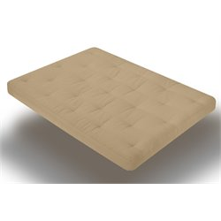8 Inch Innerspring Futon Mattress in Khaki