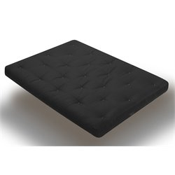 8 Inch Innerspring Futon Mattress in Black