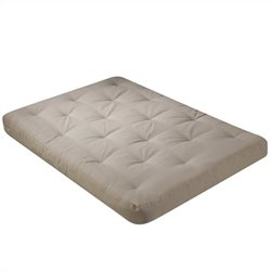 8 Inch Futon Mattress with 2 - 1 Inch Foam in Khaki