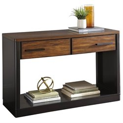 Steve Silver Gale Console Table with Drawers in Ebony and Brown Cherry