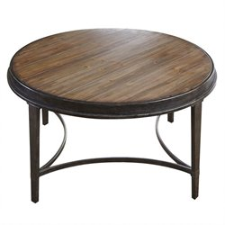 Steve Silver Gianna Round Coffee Table in Antique Tobacco