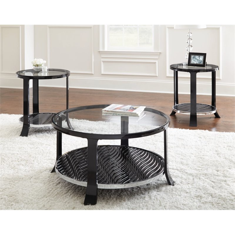 steve silver abigail 3 piece coffee table set ag3000 kit. Black Bedroom Furniture Sets. Home Design Ideas