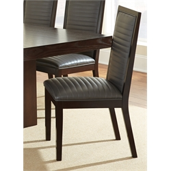 Steve Silver Antonio Faux Leather Dining Chair in Charcoal