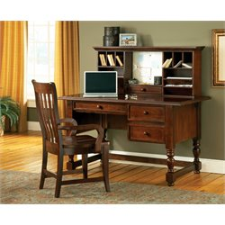 Steve Silver Bella Desk with Hutch in Brown Cherry