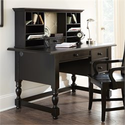 Steve Silver Bella Desk with Hutch in Black