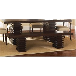Steve Silver Briana Kitchen Bench in Espresso Cherry