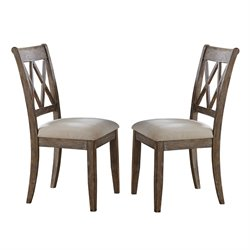 Steve Silver Franco Dining Chair in Gray