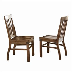 Steve Silver Hailee Dining Chair in Distressed Antique Oak