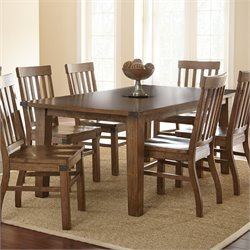 Steve Silver Hailee Dining Table in Distressed Antique Oak