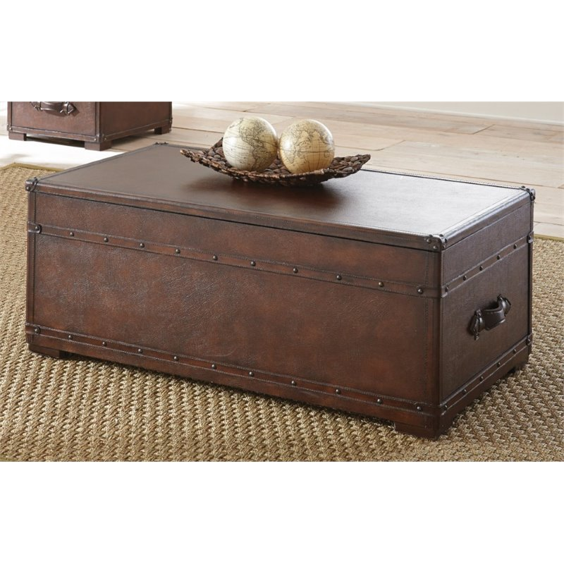 Steve Silver Jayden Faux Leather Lift Top Coffee Table With Casters Jd200cas