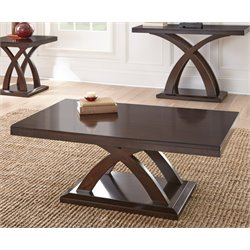 Steve Silver Jocelyn Coffee Table in Espresso Cherry