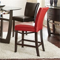 Steve Silver Matinee Bonded Leather Counter Stool in Red