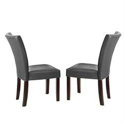 Steve Silver Matinee Bonded Leather Dining Chair in Gray