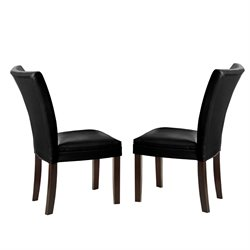 Steve Silver Matinee Bonded Leather Dining Chair in Black