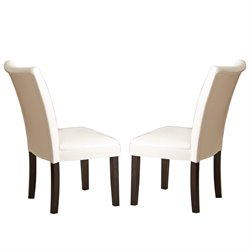 Steve Silver Matinee Bonded Leather Dining Chair in White